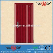 JK-F9013 porte de sécurité en bois de qualité porte de secours avec porte-pression