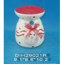 Brûleur à encens en céramique à la coque de Pâques peint à la main