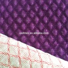 Стегание ткани, золотой фольги стеганые ткани с вышивкой дизайн