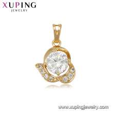 33265 Xuping vogue jewelry shop counter design images elegant gold filled pendant for wedding