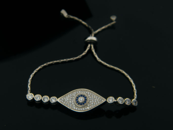Simple Evil Eye Chain Bracelet Jewelry For Women