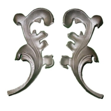 Cast Iron Gate Ornaments Leaves and Flowers