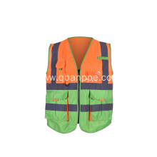 High Visibility 100% polyester knit Safety Vest