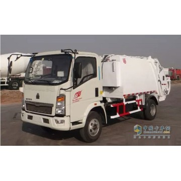 Howo Road Cleaning Sweeper Truck Dengan Road Sweeping