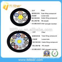 Alta calidad al aire libre GYFTY 12/24/48/95/144 fibra optica cable