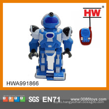 2015 Hot sale funny 2CH R/C robot toy with light and music blue and white mix