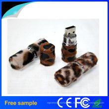 2016 Popular de alta qualidade Fur Lipstick USB Flash Drive