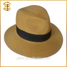 Nach Maß Sommer-fördernder Fedora-Boater-Stroh-Strand-Hut