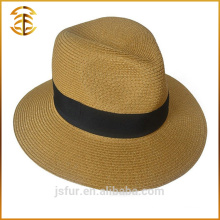 Custom Made Summer Promotional Fedora Boater Straw Beach Hat