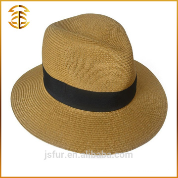 Custom Made Summer Promotional Fedora Boater Straw Beach Hat