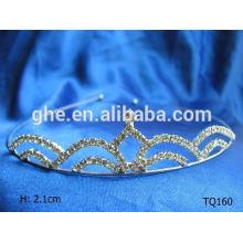 Nuevas tiaras nupciales de la boda del rhinestone de la venta al por mayor de la manera