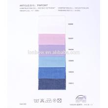 tela 100% algodón brillante para camisas en diseño simple
