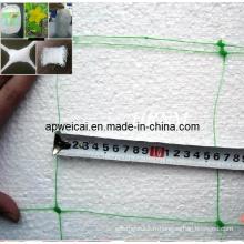 Filetage de soutien végétal, filets en plastique extrudé, 10 cm, 15 cm, trous de 12,5 cm