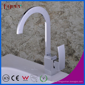 Fyeer Сплюснутый носик одной ручкой крана смесителя кухни faucet (QH1770)
