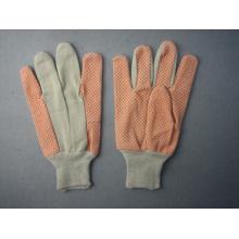 8 + 10 onças de malha de pulso de PVC pontilhada luva de trabalho de algodão