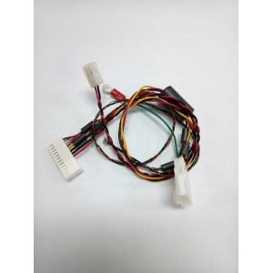Wire harness with ferrite cores
