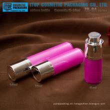 ZB-RA serie 15ml 30ml 50ml doble capa como / SAN + PP plástico redondo giratorio bomba airless botellas cosméticas