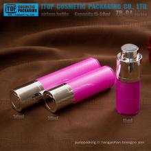 ZB-RA Series 15ml 30ml 50ml doubles couches comme / SAN + PP rond rotatif pompe airless bouteilles cosmétiques en plastique
