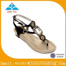 2015 ladies fashion jewel sandal