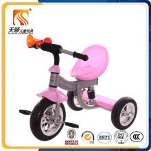 Nuevo triciclo tricolor de los niños del marco metálico del asiento del plástico de los PP