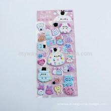 Série Kids Love Rabbit Animal Design Cute 3D Puffy Sticker