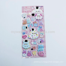 Серия Kids 'Love Rabbit Animal Design Cute 3D Puffy Sticker