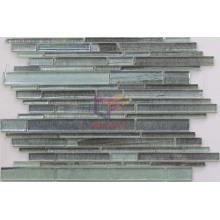 Grey Wall Paper Like Dotted Glass Strip Mosaic (CFS608)