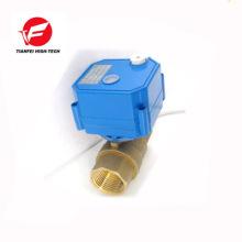CR01 12V DN15 dn20 CWX-25S electric ball valve for water for garden hose