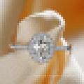 Bague de fiançailles de mariage de citation de Zirconia blanc d'amour de la femme