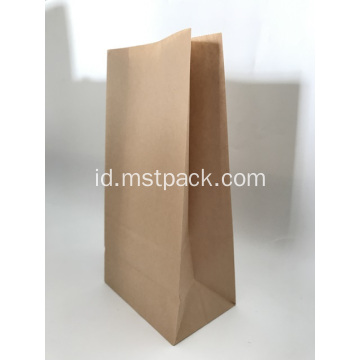 Brown Kraft Paper Flat Bottom Bag Untuk Roti
