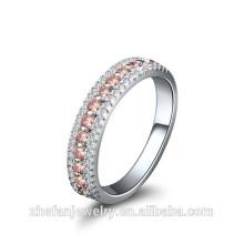 Los últimos diseños baratos del anillo de bodas de la plata esterlina 925