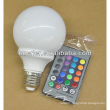 100-240v 3w led magic bulb e27 remote controller