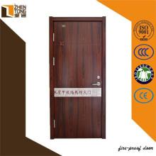 Moderne Feuer bewertete Tür Holzdesign, Melamin Tür MDF-Tür
