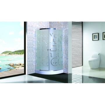 Chuveiro barato do cerco do chuveiro com vidro Matt da bandeja 4mm