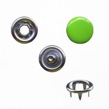 Prong δαχτυλίδι τρούκ κουμπί με πράσινο καπάκι για ένδυμα