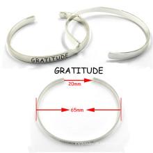 Moda 316 em aço inoxidável Charme Amizade Cuff Bracelets