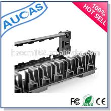 24/48 portas painel de patch de fibra óptica / Painel de montagem em rack / gerenciamento de cabos / cat5e cat6 patch panel modular