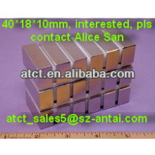 Strong rectangular magnets 40x18x10MM,strong strip magnets