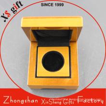 Caixa de madeira de presente contínua lustrosa de alta qualidade para a moeda
