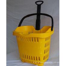 Two Wheel Hand Plastic Basket Cart