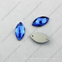 9X18mm Dz-3066 Navette Nähen auf Kristallglassteinen für Kleid Dekoration in China Strass