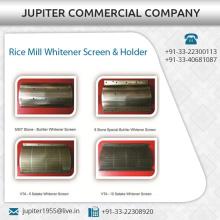 Robusto y duradero molino de arroz Blanqueador pantalla y titular al mejor precio