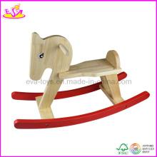 2015 nouveau cheval à bascule en bois d'arrivée, tour étonnant sur le jouet des animaux (W16D024)
