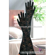 Sexy Long Rosy Lace Gloves