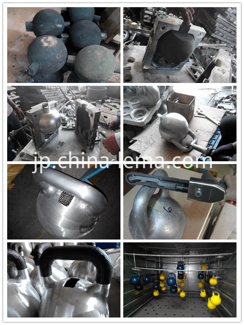 production of aluminum casting kettle-bell