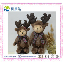Christmas Elk Teddy Bear Soft brinquedo Nice Christams presente