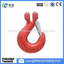 Safety forged alloy steel clevis slip hook with latch