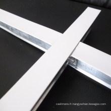 Accessoires de grille de plafond exposés blancs plats (fabricant de SGS)