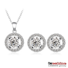Concentric Circles Zircon Wedding Jewelry Sets (CST0003-B)