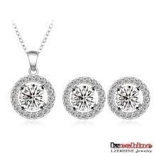 Círculos concêntricos Zircon Casamento conjuntos de jóias (CST0003-B)